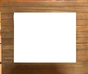 brown slatted frame