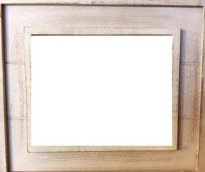 white-washed frame